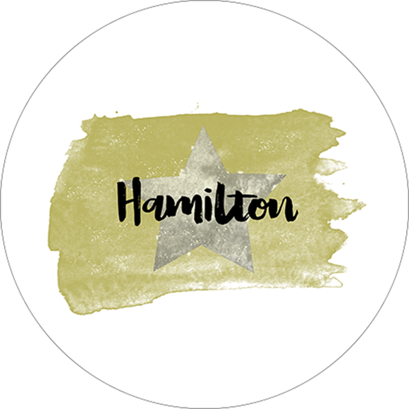 Hamilton Watercolor Design Sticker