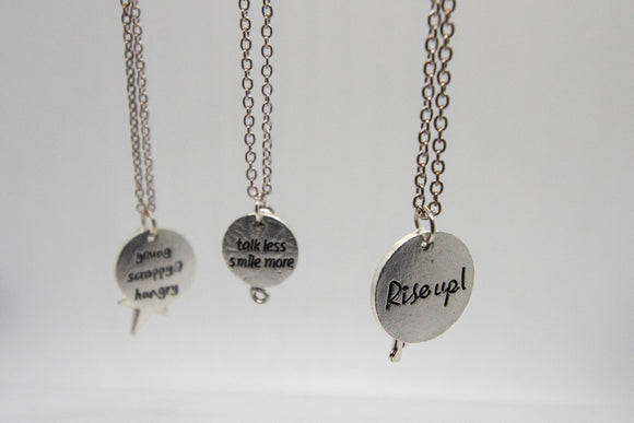 Hamilton Silver Charm Necklaces Trio