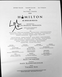 Hamilton - Score Sheet Music Signed By Lin-Manuel Miranda - Broadway Bazaar
