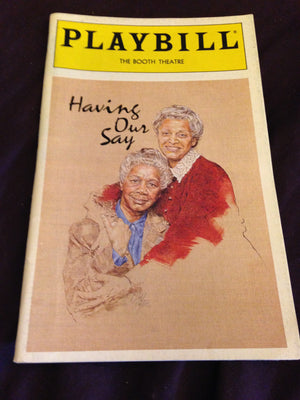 Having Our Say Playbill