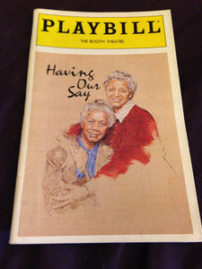 Having Our Say Playbill - Broadway Bazaar