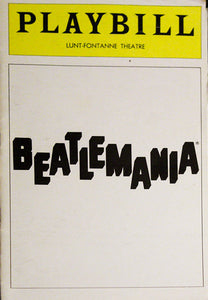 Beatlemania Playbill
