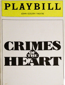 Crimes Of The Heart Playbill