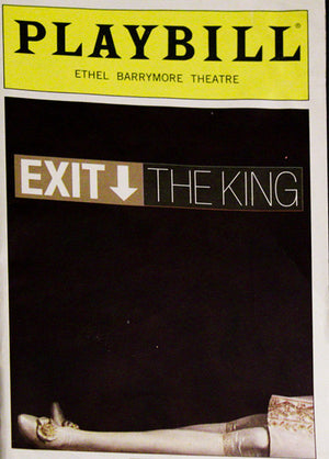 Exit The King Playbill