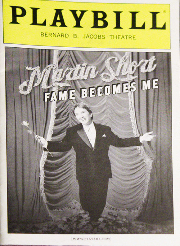 Fame Becomes Me Playbill