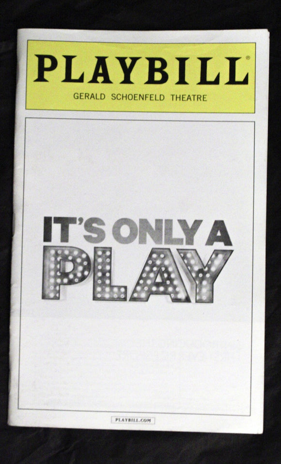 It's Only A Play Playbill - Broadway Bazaar