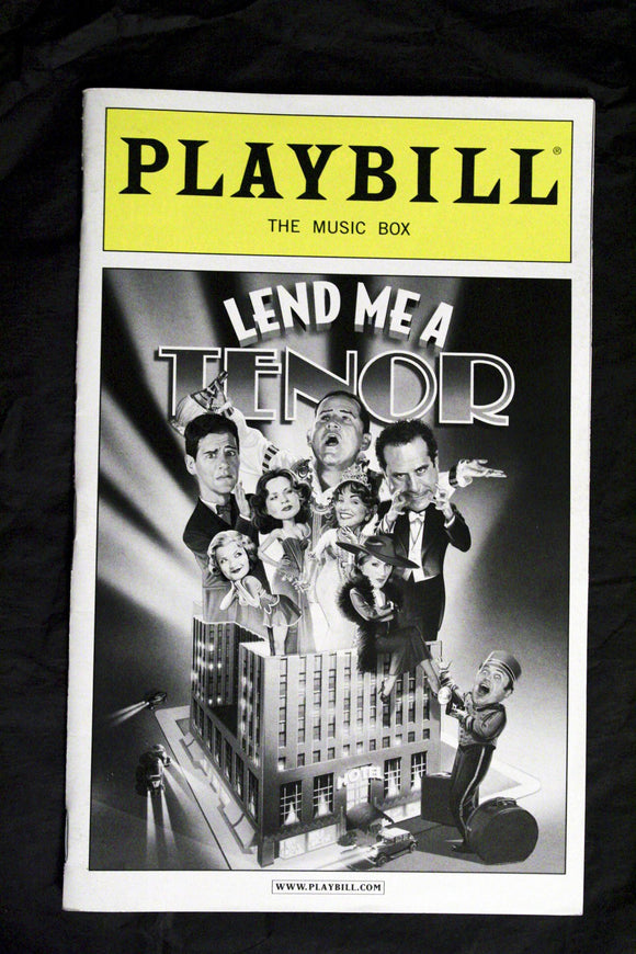 Lend Me A Tenor Playbill - Broadway Bazaar