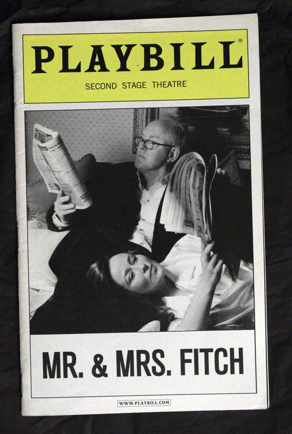 Mr. & Mrs. Fitch Playbill - Broadway Bazaar