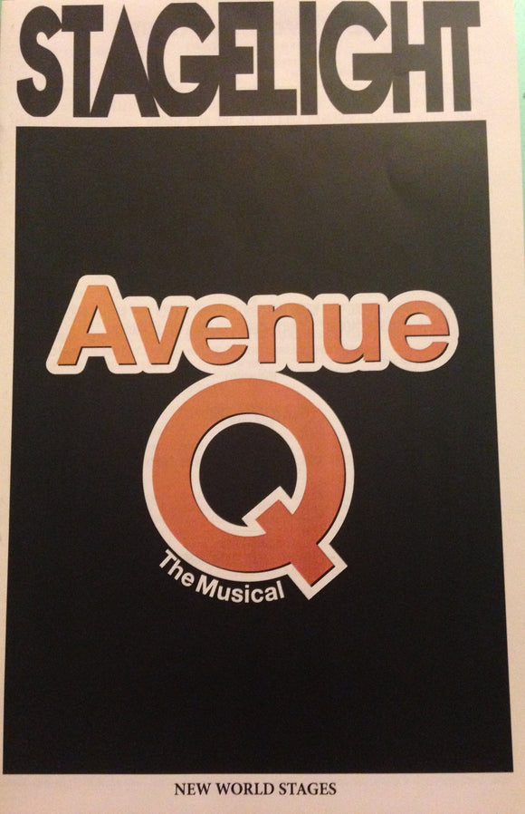 AVENUE Q Playbill - Broadway Bazaar