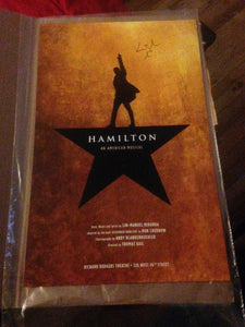 Hamilton The Musical Poster - Signed By Lin Manuel Miranda