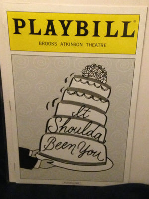 It Shoulda Been You Playbill