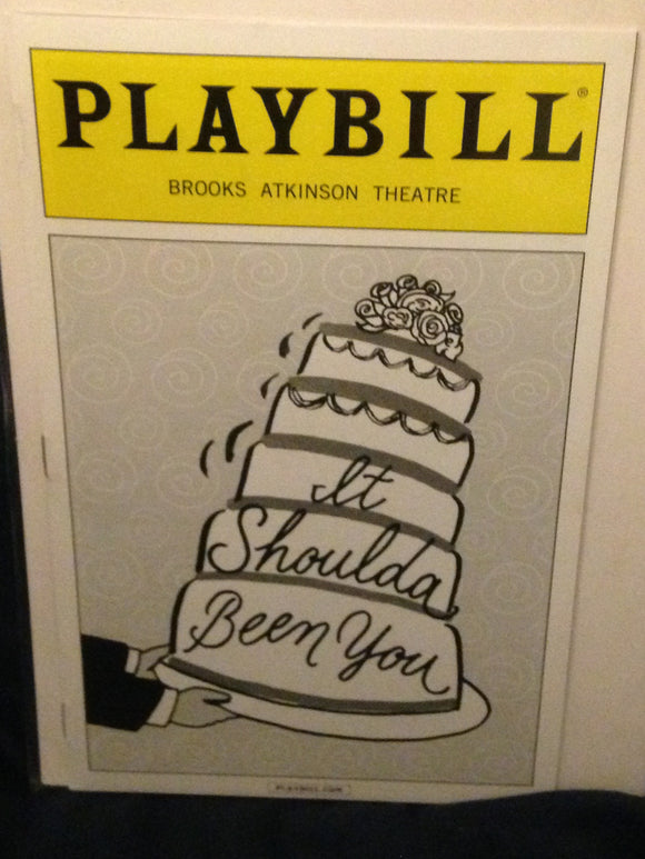 It Shoulda Been You Playbill - Broadway Bazaar