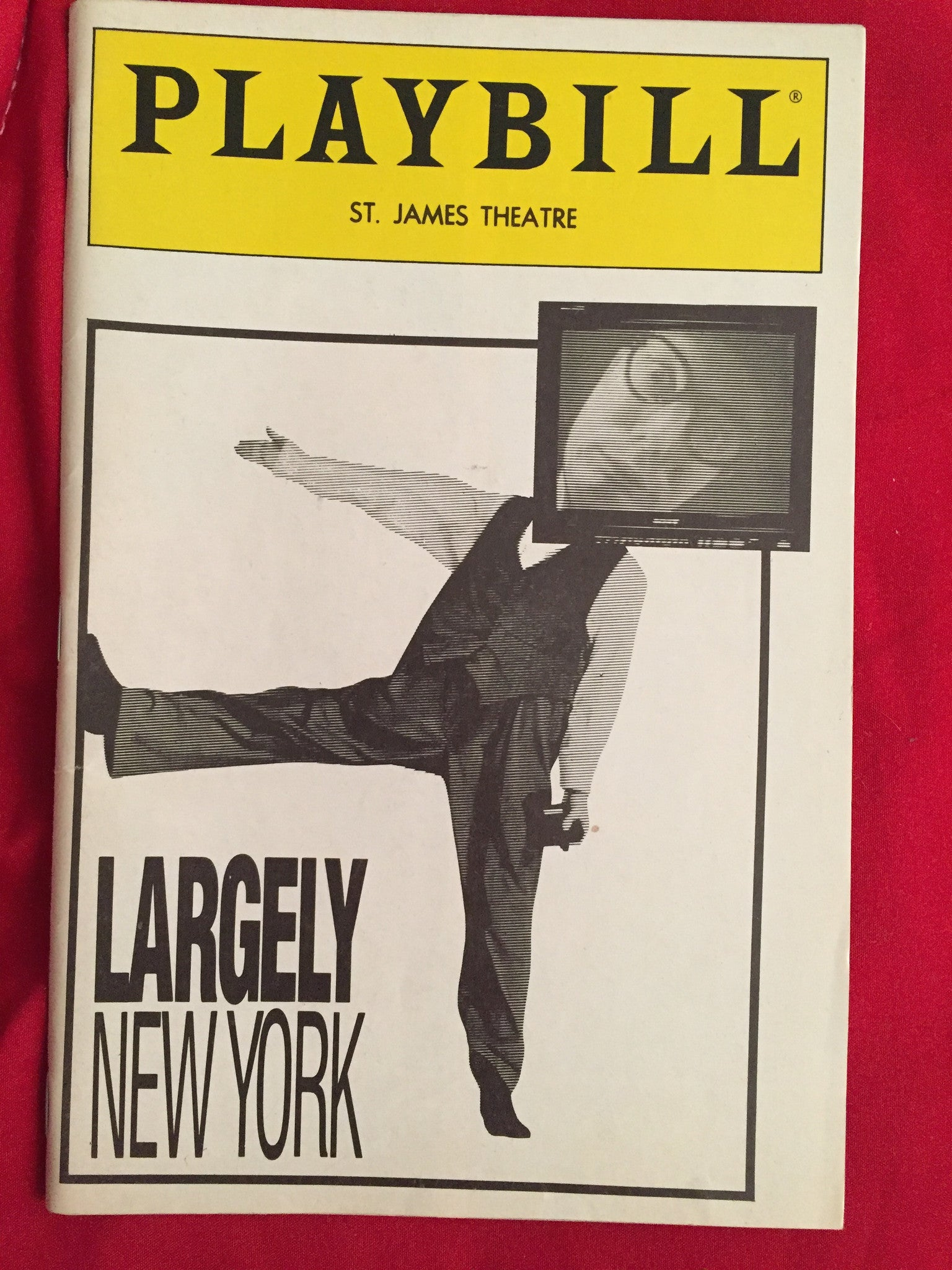 LARGELY NEW YORK Playbill - Broadway Bazaar