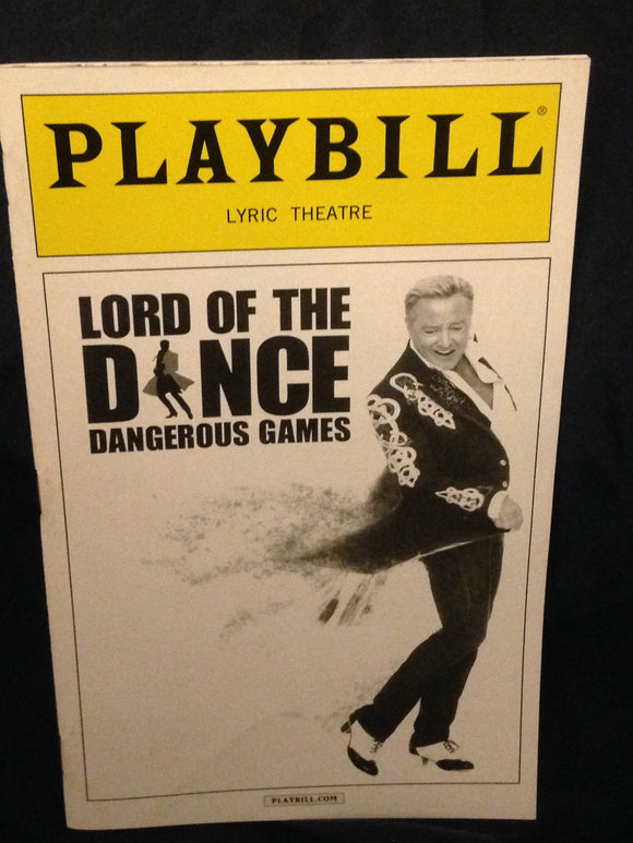 Lord Of The Dance: Dangerous Games Playbill - Broadway Bazaar