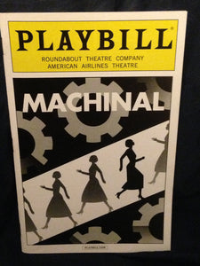 Machinal Playbill - Broadway Bazaar