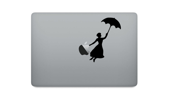 Mary Poppins Sticker And Laptop Sticker