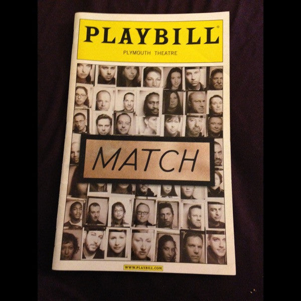 MATCH Playbill - Broadway Bazaar