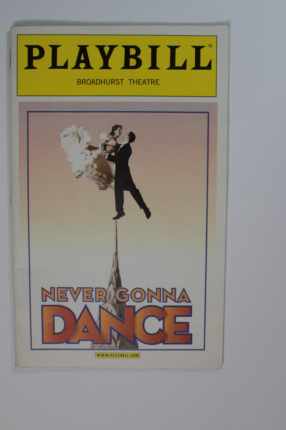Never Gonna Dance Playbill - Broadway Bazaar