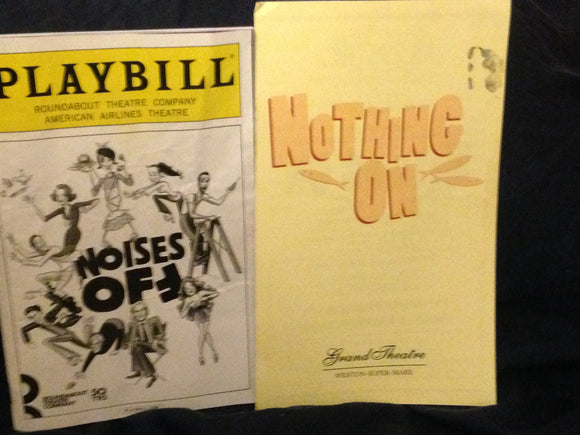 Noises Off Playbill - Broadway Bazaar