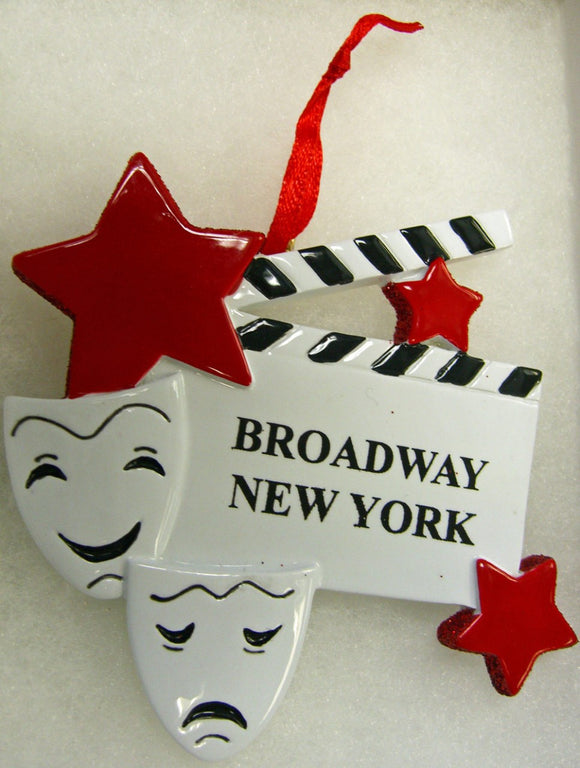 Broadway Masks And Clapboard New York Ornament - Broadway Bazaar