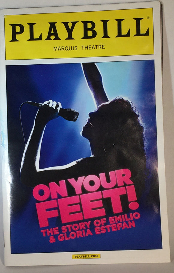 ON YOUR FEET Playbill - Broadway Bazaar