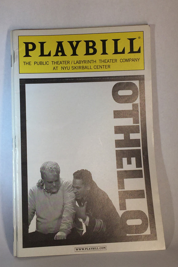 OTHELLO Playbill - Broadway Bazaar