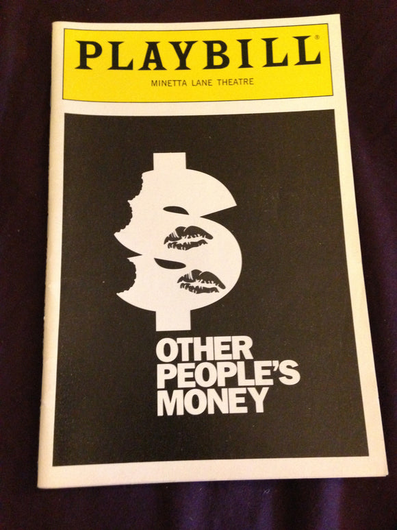OTHER PEOPLES MONEY Playbill - Broadway Bazaar