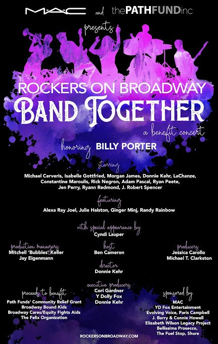 Rockers On Broadway Band Together Poster