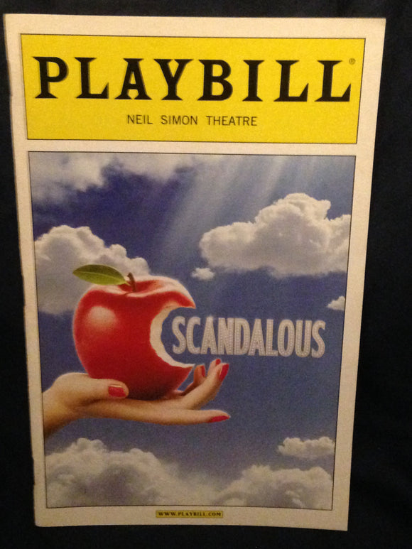 Scandalous Playbill - Broadway Bazaar