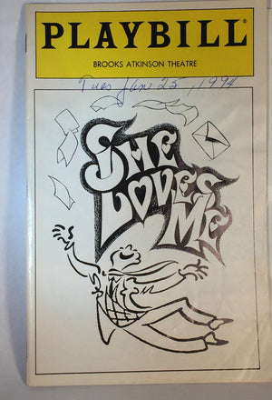 SHE LOVES ME Playbill - Broadway Bazaar