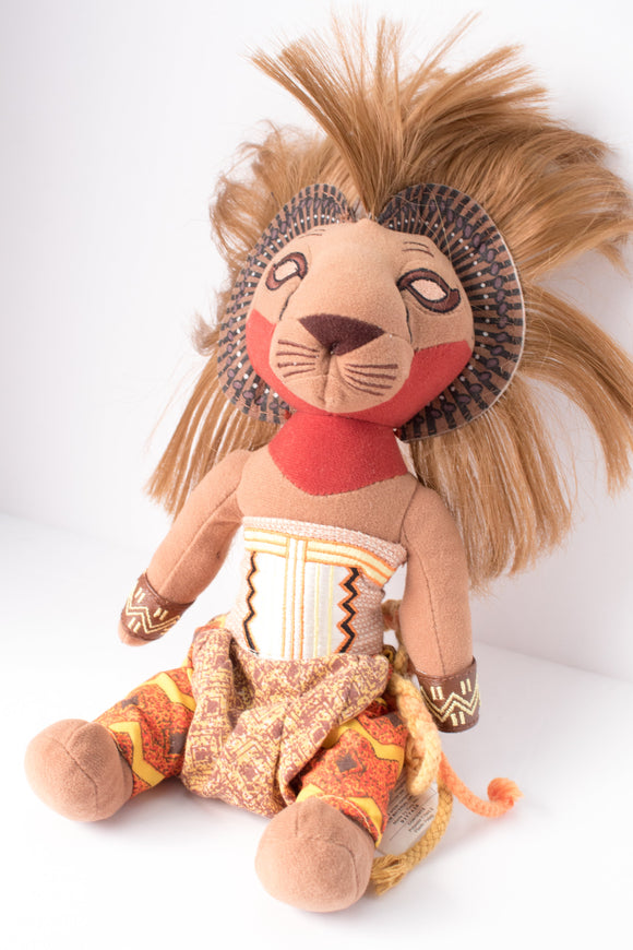 Lion King Stuffed Simba Doll - Broadway Bazaar