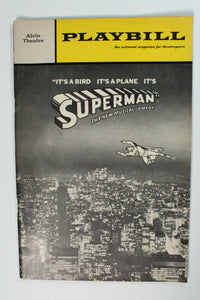 It's a Bird It's A Plane It's Superman Playbill - Broadway Bazaar