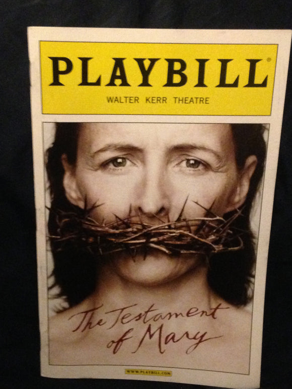 The Testament Of Mary Playbill - Broadway Bazaar