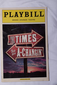 Times They Are A-Changin' Playbill - Broadway Bazaar
