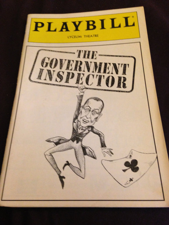 THE GOVERNMENT INSPECTOR Playbill - Broadway Bazaar