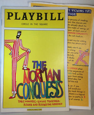 THE NORMAN CONQUESTS Playbill - Broadway Bazaar