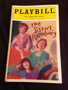 The Sisters Rosensweig Playbill - Broadway Bazaar