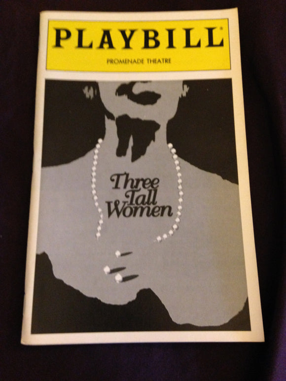 Three Tall Women Playbill - Broadway Bazaar