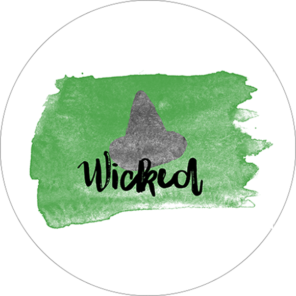 Wicked Watercolor Design Sticker - Broadway Bazaar