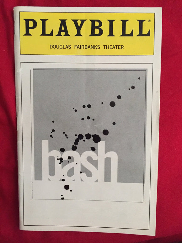 BASH Playbill - Broadway Bazaar