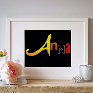 Personalized Broadway Show Name Art 8x10 - Broadway Bazaar