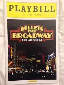BULLETS OVER BROADWAY Playbill - Broadway Bazaar
