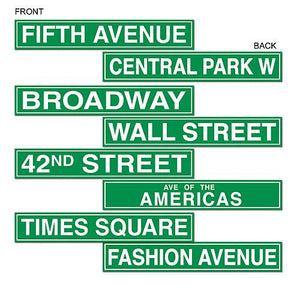 Nyc Street Sign Cut Outs