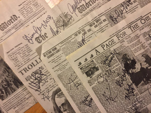 Newsies Newspaper Pieces