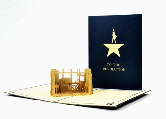 Hamilton The Musical Pop-Up Notecard - Broadway Bazaar