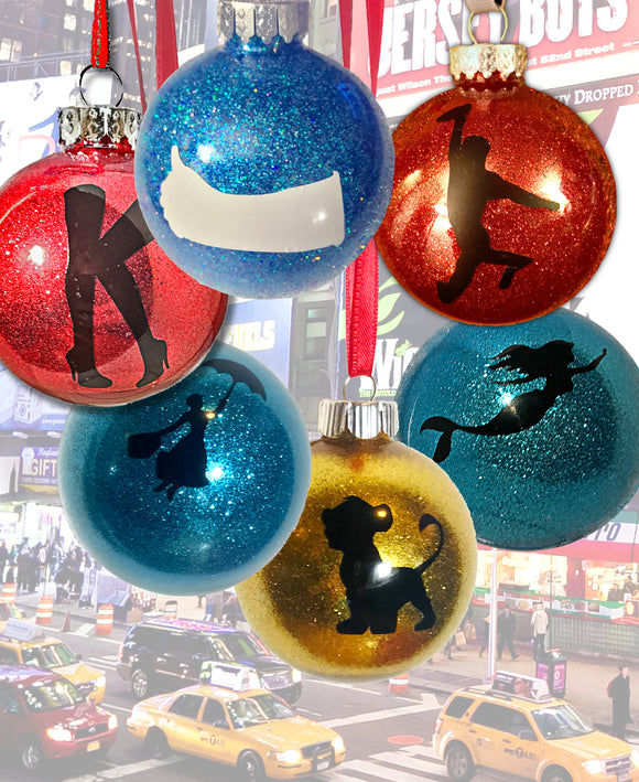 Broadway Glitter Ball Ornament