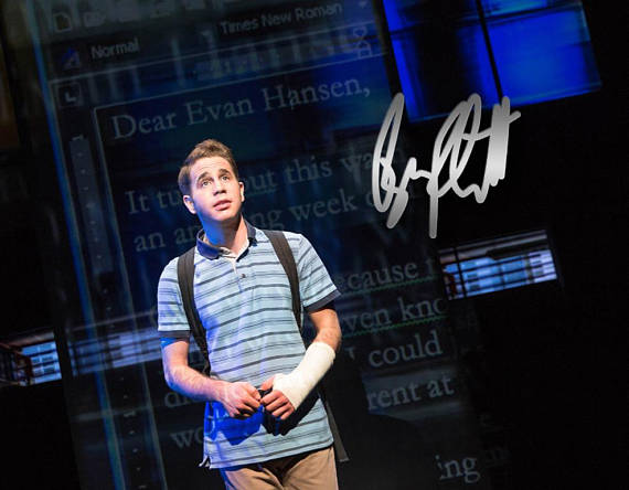 Dear Evan Hansen Signed 8x10 Ben Platt - Broadway Bazaar