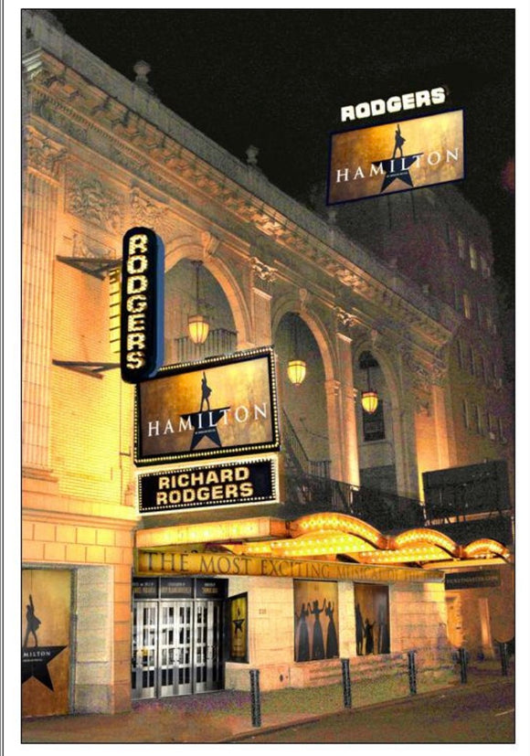 Hamilton The Musical Blank Greeting Card - Broadway Bazaar