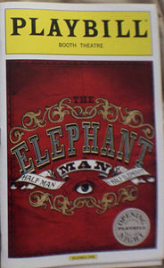 The Elephant Man Opening Night Playbill - Broadway Bazaar