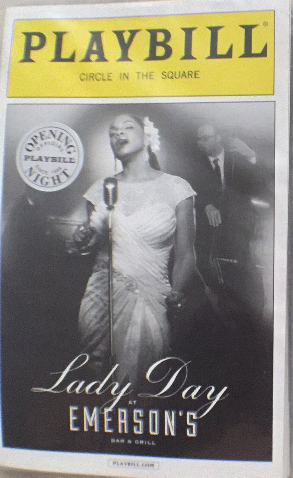 LADY DAY AT EMERSONS BAR AND GRILL - Opening Playbill - Broadway Bazaar